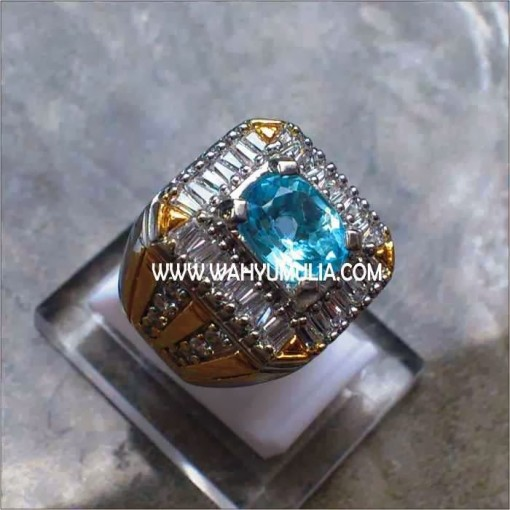 Natural batu blue topas topaz