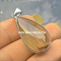 batu liontin kecubung rambut rutilized quartz 1