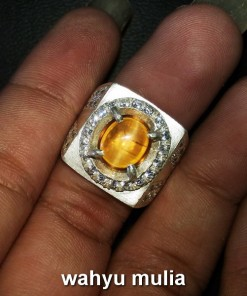 batu permata natural opal cat eye yellow dijual