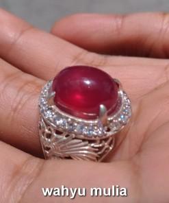 natural ruby corundum asli dijual bersertifikat