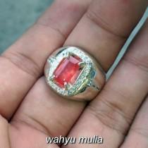 jual batu cincin orange safir paparadschaharga murah