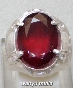 batu cincin permata orange hessonite garnet asli_4