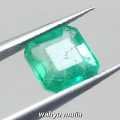 foto Batu Permata Emerald Zamrud Colombia Kotak HQ Asli ciri harga khasiat memo sertifikat ring perak_1