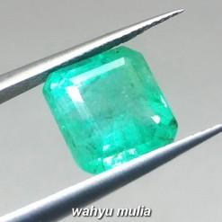 gambar Batu Permata Emerald Beryl Zamrud Colombia Kotak HQ Asli ciri khasiat harga jamrud bersertifikat memo_2