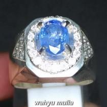 Cincin Batu Permata Natural Blue Safir Srilangka Ceylon Asli harga khasiat ciri foto bersertifikat memo_6