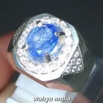 Cincin Batu Permata Natural Blue Safir Srilangka Ceylon Asli harga khasiat ciri foto bersertifikat memo_7