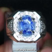 harga gambar Batu Cincin Natural Blue Safir Ceylon Srilangka Asli bersertifikat memo jual burma star royal khasiat _4