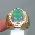 jual foto Batu Cincin Natural Zamrud Emerald Beryl Asli bagus bersertifikat memo jenis colombia brazil afrika ciri khasiat bongkahan_3