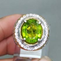 jual foto Batu Cincin permata Hijau Green Peridot Asli bagus besar ciri harga khasiat memo sertifikat tentang zodiak_4