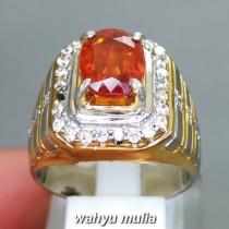 jual foto Batu Cincin Mandarine Orange Garnet Srilangka Ceylon Asli natural bersertifikat memo hessonite oranye ciri kegunaan harga_3