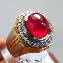 gambar Batu Cincin Permata Natural Ruby Merah Delima Pigeon Blood Asli bersertifikat mustika ampuh burma afrika bagus ciri harga khasiat_2