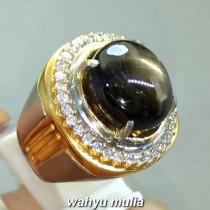 jual gambar Cincin Batu Bangsing Black Safir Star golden Kresnadana Asli natural bersertifikat bali harga ciri manfaat_1