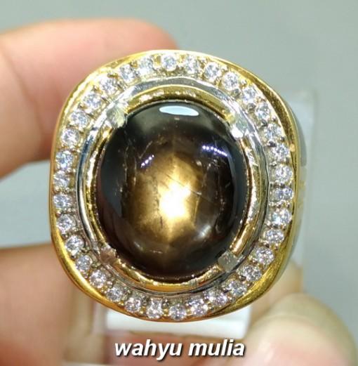 jual gambar Cincin Batu Bangsing Black Safir Star golden Kresnadana Asli natural bersertifikat bali harga ciri manfaat_4