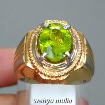 jual gambar cincin batu permata hijau peridot asli srilangka natural bersertifikat ceylon tsavorite ciri khasiat harga bagus_3