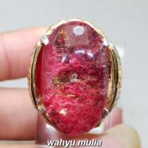 gambar jual Batu Cincin Natural Kecubung Karang Merah Phantom Quartz Asli natural bersertifikat bagus harga murah kalimantan ciri khasiat akuarium_6