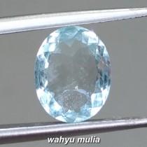 image jual Natural Batu Permata Aquamarine Beryl Biru ceylon blue santa maria bersertifikat kegunaan ciri jenis harga murah bagus biru tua_1