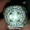 foto jual Batu Cincin White Star Safir Putih bening Srilangka Asli bersertifikat natural ceylon ciri jenis silky milky harga manfaat_8