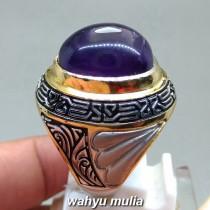 foto Cincin Batu Akik Amethyst Quartz Kecubung Ungu asli natural bersertifikat kalimantan wulung berkhodam kegunaan mustika_3