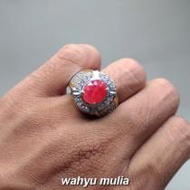 foto jual Cincin Batu Akik Orange Safir songea Paparadsca asli natural bersertifikat berkhodam srilangka ceylon afrika merah bagus_4