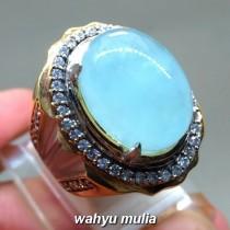 harga jual Batu Cincin Santamaria Aquamarine Oval Biru asli natural bersertifikat zamrud kinyang kecubung biru muda tua khasiat berkhodam_2