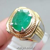 khasiat Batu Natural Emerald Beryl Zamrud Hijau oval asli berkhodam bersertifikat ciri harga jenis manfaat gambar_1