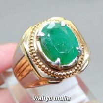 khasiat Batu Natural Emerald Beryl Zamrud Hijau oval asli berkhodam bersertifikat ciri harga jenis manfaat gambar_2