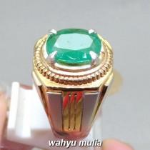 khasiat Batu Natural Emerald Beryl Zamrud Hijau oval asli berkhodam bersertifikat ciri harga jenis manfaat gambar_3