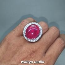 Jual Batu Permata Ruby Merah Delima asli berkhodam bersertifikat pijen tua bagus afrika birma mozambik natural_8