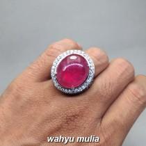 Jual Batu Permata Ruby Merah Delima asli berkhodam bersertifikat pijen tua bagus afrika birma mozambik natural_9