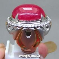 gambar jual Batu Cincin Permata Ruby Merah Delima asli berkhodam berserttifikat natural bagus afrika tua menyala harga khasiat ciri_4
