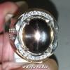Gambar Cincin Batu Akik Sunstone hitam biduri surya Star 6 asli bersetifikat berkhodam mustika berkhasiat ciri harga_2