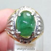foto Cincin Batu Permata Zamrud Emerald Beryl asli bersertifikat kolombia berkhodam khasiat jenis harga bagus pria_5