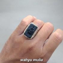 gambar Batu Cincin Giok Hitam Lafadz Allah Black jade asli natural bersertifikat korea birma cina harga khasiat jenis magnet_5