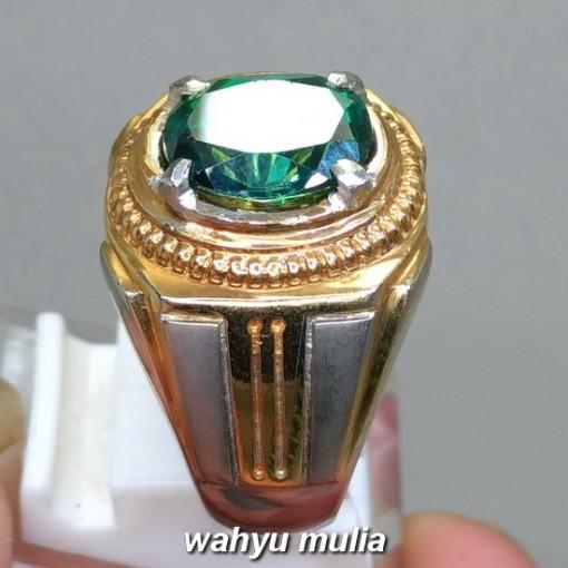 gambar Cincin Batu Mulia natural Green Topaz asli bersertifikat bagus berkualitas beli cari _3