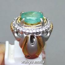harga Permata Batu Cincin Jamrud Emerald Beryl asli cewek cowok hijau tua muda bersertifikat khasiat jenis asal_3