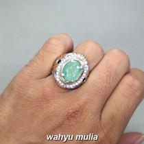 harga Permata Batu Cincin Jamrud Emerald Beryl asli cewek cowok hijau tua muda bersertifikat khasiat jenis asal_4