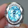 foto Batu Cincin Natural Swiss Blue Topaz Asli berkhodam bersertifikat berkhasiat ciri harga kegunaan bacaan asal_5