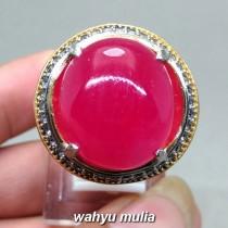 foto Cincin Batu Merah Delima Ruby Jumbo Asli bersertifikat berkhodam kegunaan harga murah bagus koleksi afrika birma_6