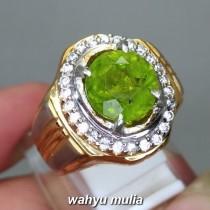 harga Cincin Batu Permata Green Peridot Asli natural bersertifikat asal berkhasiat kegunaan berenergi _2