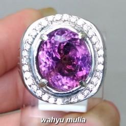 jual Batu Cincin Amethyst Quartz kecubung ungu Kinyang Asli bagus pria wanita ciri harga khasiat berkhodam bersertifikat _5
