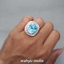 jual Batu Cincin Blue Topaz Swiss Asli bersertifikat kalimantan ciri manfaat harga murah bagus_4