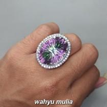 Foto Batu Cincin Mistik Quartz Kinyang pelangi Asli Ber memo kalimantan berkhodam manfaat harga ciri cara asal_4