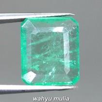 Gambar Batu Natural Emerald Beryl Zamrud Kolombia Kotak Asli bersertifikat rusia persegi cewek cowok ciri harga khasiat hijau tua muda kristal_3