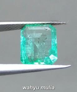 Harga Batu Permata Zamrud Colombia Emerald Beryl Kotak Asli bersertifikat bagus pria wanita hijau tua muda kristal_3