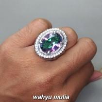 Kegunaan Cincin Batu Natural Kecubung Pelangi Mistik Quartz Asli bersertifikat kalimantan harga murah bagus berkualitas_4