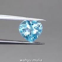 foto Batu Natural Blue Topaz Bentuk Love hati Asli bersertifikat heart hati kowok tunangan ciri harga khasiat london swiss_4