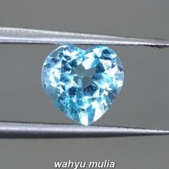 gambar jual Batu Permata Blue Topaz Biru Bentuk Love heart Asli bersertifikat berkhasiat ciri harga kegunaan london swiss_4