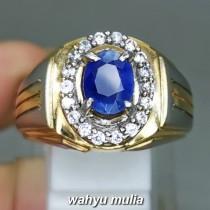 Batu Blue Safir Ceylon Srilangka Asli bersertifikat berkhodam ciri harga kegunaan pria wanita_3