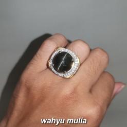 Batu Silimanite Cat Eye Mata Kucing Hitam Asli bersertifikat srilangka berkhodam tarikan kalimantan ciri harga khasiat_4