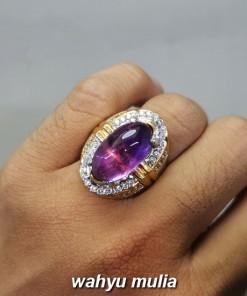 Cincin Batu Kecubung Ungu ametis Kinyang Asli berkualitas bagus kalimantan kristal tua muda pra wanita kalimantan_4